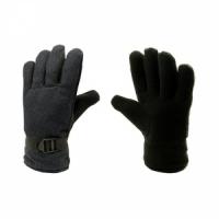 Перчатки, ткань сукно, ладонь флис, подкладка искусственный мех, фиксатор на запястье, цв. черный
