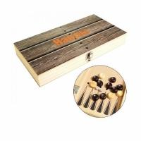 Нарды СРЕДНИЕ, размер поля 30*30см., складная деревянная доска