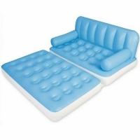 Диван-кровать BESTWAY 2-х местный, трансформер 5 в 1, цв. бел./голуб, размер152х188х64см., 75039 (3)