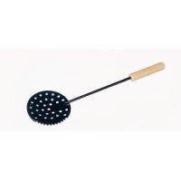 Черпак NEW №5 металлический зубчатый - с деревянной ручкой, крашеный (40)