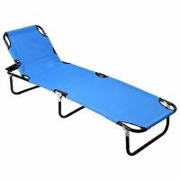 Кровать-раскладушка, 4 положения, Ш188*В30*Г57см., сталь, 600DPolyester,цв. синий (1247) (4)