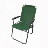 Кресло KUTBERT, В90*Ш50*Г50, складное, с пластик. подлокот., алюм.,сетка, цв. зеленый HKC-1103 (6)