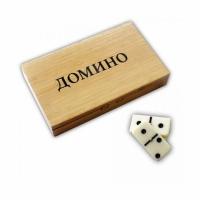 Домино, в деревянном кейсе-шкатулке (на магните) (Ш19*В3,5*Г11,5 см.)