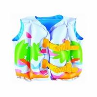 Жилет BESTWAY 17x12 Tropical Swim Vest надувной, 43х30см, 3-6лет, ПВХ 32069eu