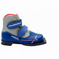 Ботинки лыжные детские /75 мм/цв. сине-серебрянный / размер 32