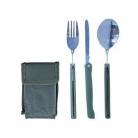 Набор столовых приборов: вилка, нож, ложка - в чехле (106/KS603)