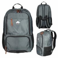 Рюкзак USSL, 25л, В43*Ш30*Г14,  спортивный (городской),  усил. спинка, цвет серый/черный (BOREN-1)