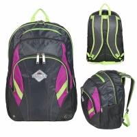 Рюкзак CLIMB 35л, В45*Ш30*Г20, спортивный (городской), усил. спинка, цвет сер/фиол/салат(BOREN-3)