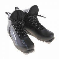 Ботинки лыжные MOTOR TREK Blazzer NNN, иск. кожа ( черный, лого серый) р.36