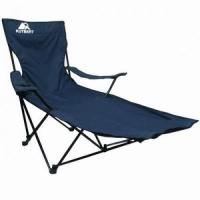 Кресло-шезлонг KUTBERT, В165*Ш50*Г50, раскл.,с подст.для ног, чехол,цв.тем-синий YTBC018 (8)