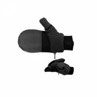 Перчатки - варежки ,водоот. материал, ладонь флис, усиленная, клапан на магните, цв. черный