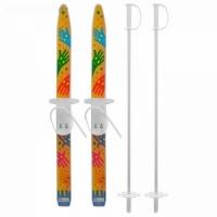Мини-лыжи ЛЫЖИКИ-ПЫЖИКИ ( ручки), с палками, 75/75 см. (4559121)