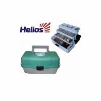 Ящик рыболовный HELIOS пластиковый, трехполочный, 400*200*220мм., цв. в ассортименте (Россия)