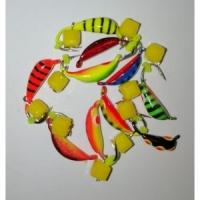 Мормышка вольфрамовая Банан с Сырным Кубиком, цвет микс (10шт./уп.)
