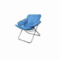 Кресло KUTBERT, В85*Ш60*Г70, раскл., с мягкими подлокотниками, цв. синий (1725)