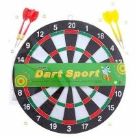 Дартс SPORT (сред.) с 4 дротиками, d 30 см. (12) (534873)