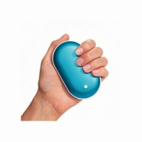 Грелка для рук Pebble Hand Warmer, USB зарядка, 102*58*8,24мм, вес 135гр + Power Bank (5000mAh/5wh)