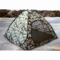 Палатка автомат зимняя, 180*180см, h-150см, дно на молнии, цвет белый КМФ (арт. D) (10)