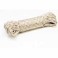 Шнур полипропиленовый, плетеный с сердечником, d 4мм, дл.35м., нагр. до 300 кг., цв. бежевый