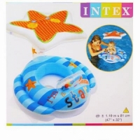 Круг-плотик INTEX, Звезда с навесом, размер 119x81см  56582NP