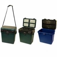 Ящик зимний ТОНАР Helios пластиковый В39*Ш36*23, 19л,с мягким сиденьем, t от -40 до +50,до 135кг (6)