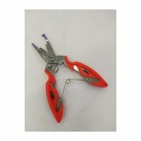 Плоскогубцы-экстрактор, нерж. сталь, пластик. рукоятка, с фиксатором, 12,5см (JZ-78/YD1)