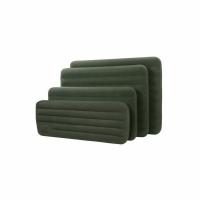 Матрас INTEX Prestige со встроенным ручным насосом ,флок, зеленый, 137*191*22 см. (66928) (3)