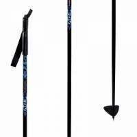 Палки лыжные Аctive стекловолокно, анатом ручка, рост 125 см, цвет синий.