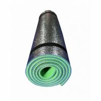 Коврик/каремат рулонный ЛЮКС, 10мм (180*60 см), двухслойный, фольга (20)