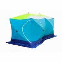 Палатка СТЭК КУБ 3 трехслойная, дышащая ДУБЛЬ, размер 2,2*4,4 м., высота 2,05 м, вес 14,5 кг.