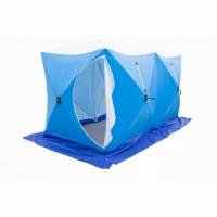 Палатка СТЭК КУБ 2, трехслойная, дышащая ДУБЛЬ, размер 2,75*1,75 м., высота 1,75 м., вес 10,6 кг.